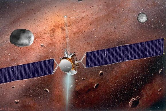 Image of dawn spacecraft
