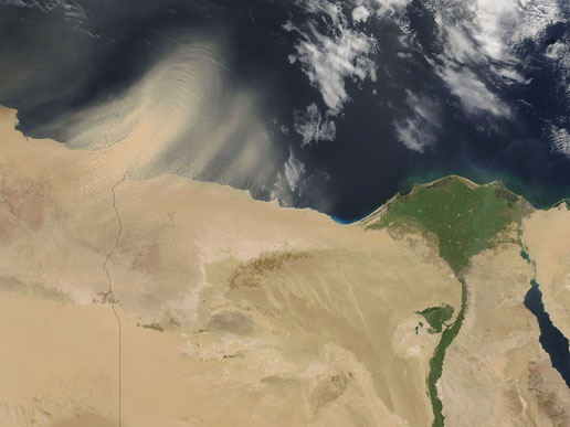 Image of egypt by satellite