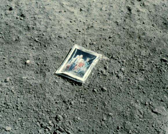 image of family photo on moon